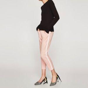Zara Trafaluc Collection Pink Pants Tuxedo Stripe